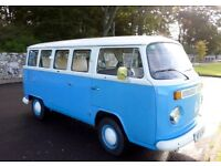 Rare VW camper T2 14 Windows bay with barn doors, recon engine in 2014. Years MOT.