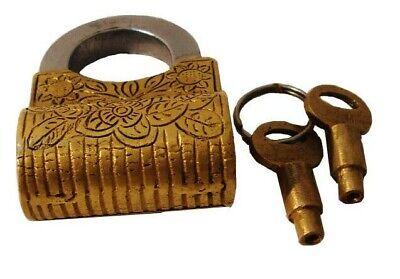 1 sets 33*18*8mm Bronze Latch lock Vintage Style Happiness Box Hasp Lock Padlock Key Protector Furniture Decorative Jewelry Box Decor