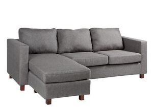 Corner sofa -Grey used only a few months old! Kitchener / Waterloo Kitchener Area image 1