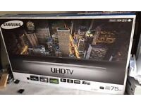"Samsung 75"" 4k UHD SMART LED TV ue75ku7000"