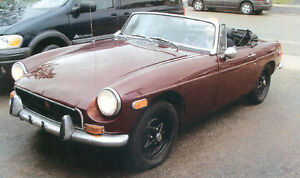 1973 MGB ELECTRIC OVERDRIVE ,NEW REBILT ENGINE $2900
