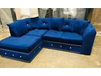 High quality Plush velvet L shape corner sofa sofa sets