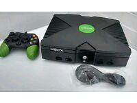 XBOX ORIGINAL CONSOLE - ARCADE VERSION 300 GAMES INSTALLED - ONLY £40