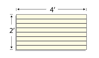Low Pressure Laminate Slatwall Panels 4w X2h Almond- Set Of 2