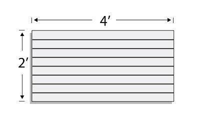 Low Pressure Laminate Slatwall Panels 4w X2h Grey- Set Of 2