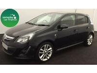 ONLY £147.89 PER MONTH BLACK 2013 VAUXHALL CORSA 1.4 SRI 5 DOOR PETROL MANUAL