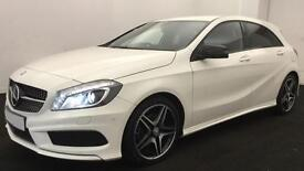 WHITE Mercedes-Benz A200 AMG LINE Night Edition AUTO 2015 FROM £88 PER WEEK!