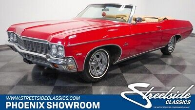 1970 Chevrolet Impala Convertible Droptop V8 Auto Classic Vintage Collector Original Match Chevy Red Tan