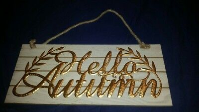 New Autumn/Fall Pallet style decor hanging  sign with metal lettering ](Decorating With Pallets)