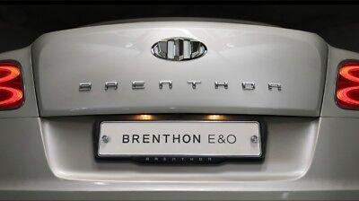 BRENTHON NEW Chrome Wide Lettering Emblem Badge For Hyunda Kia Universal vehicle
