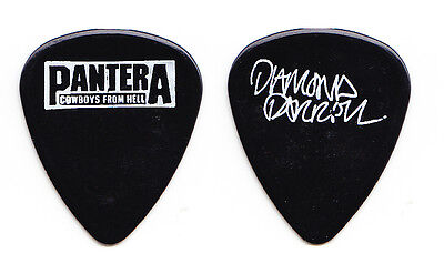 Pantera Dimebag Darrell Signature Black Guitar Pick 1990 Cowboys From Hell Tour