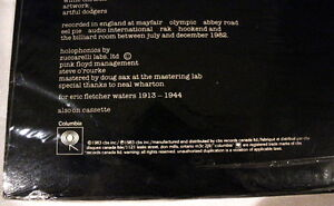 Pink Floyd *The Final Cut* 1983 QC38243 Canada 1st Press Sealed Stratford Kitchener Area image 3