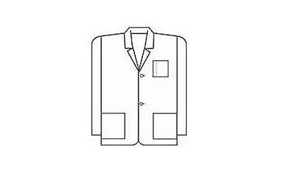 Meta Mens White Consultation Coat Lab Coat 31 Inches 3 Pocket White Consultation Coat