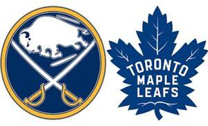 Buffalo sabres vs Toronto maple leafs tickets!!!