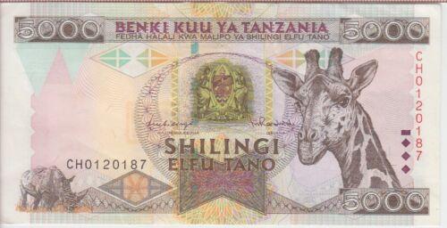 TANZANIA BANKNOTE P32  5000 5.000 5,000 SHILLINGS  EF+  WE COMBINE