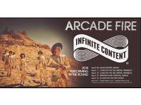 2x Standing Arcade Fire Manchester Tickets