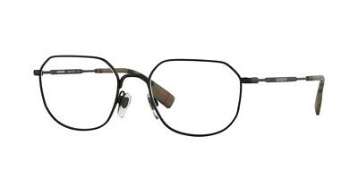 New Unique Rx-able BURBERRY Eyeglasses BE1335 1007 54-19 Matte Black Frames