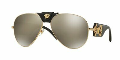 Versace Man Sunglasses, Gold Lenses Metal Frame, VE2150Q 10025A