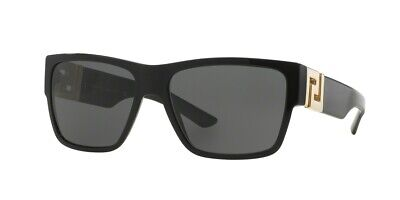 *NEW* VERSACE 0VE4296 GB1/81 BLACK FRAME, GRAY POLARIZED LENSES, SIZE 59