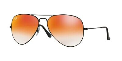 Ray-Ban Aviator RB3025 002/4W 55mm Shiny Black/Mirror Gradient Red Sunglasses