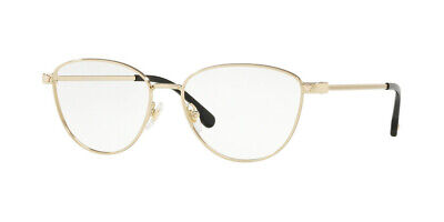 NWT VERSACE Eyeglasses VE1253 1252 PALE GOLD W/ DEMO LENS 54MM