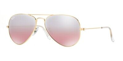 Ray-Ban Aviator RB3025 001/3E 55mm Gold/Crys.Brown-Pink Silver Mirror (Ray Ban Brown Mirror)