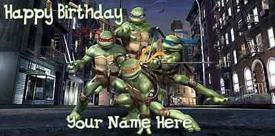 Tmnt Birthday Banner (Birthday banner Personalized 4ft x 2 ft Teenage Mutant Ninja Turtles TMNT)