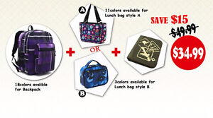 great bags set for back to school, you can save another $15.00