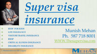 Supervisa & Visitor Insurance Quotes 587 718 8001