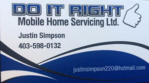 DO IT RIGHT MOBILE HOME SERVICES Moose Jaw Regina Area image 1