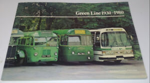 1980 GREEN LINE BUS London Vintage Book