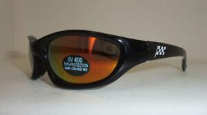 New UV 400 Black Sunglasses with Checkered Racing Flag