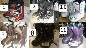 SNOWBOARD BOOTS  ALL ARE USED