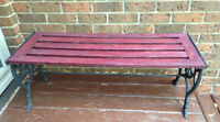 Wrought Iron and Wood Bench
