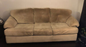 Sofa Microfiber tan couch.  FREE!!!