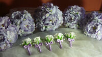 10 Piece Lilac Colour Peony Wedding Bouquet Flowers.
