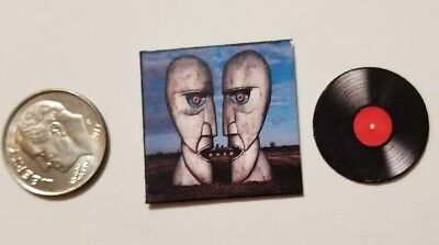 """Miniature Dollhouse  record album Barbie  1/12    1"""" Pink Floyd Division Bell"""