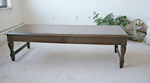 Dark Stained Long Coffee Table by Deilcraft