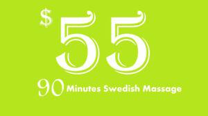 90 Minutes Swedish Massage just $ 55