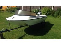 Boat with trailer and engine