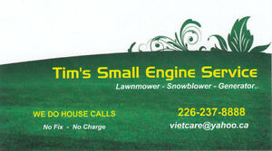 HOUSE CALLS - Mobile Service Lawnmowers Snowblowers..