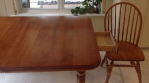 Large country table and chairs