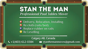 Stan The Man - Professional Pool Tables Installer. Edmonton Edmonton Area image 6