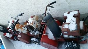 3 Snowblowers for Parts or Fixing,
