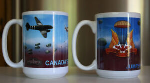 2 x Canadian Airborne Coffee Mugs