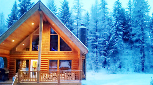 LUXURIOUS LOG CABIN|SLEEPS 8 ADULTS|SCENIC MOUNTAINS