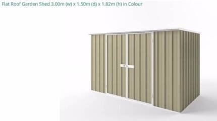 flat roof garden shed brand new in box