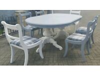 Upcycled dining table plus 6 chairs