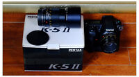 Pentax K-5 II (2000 shutter count) with 2 Leica lenses and grip