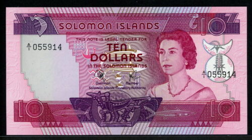 Solomon Islands 1977, 10 Dollars, P7a, UNC